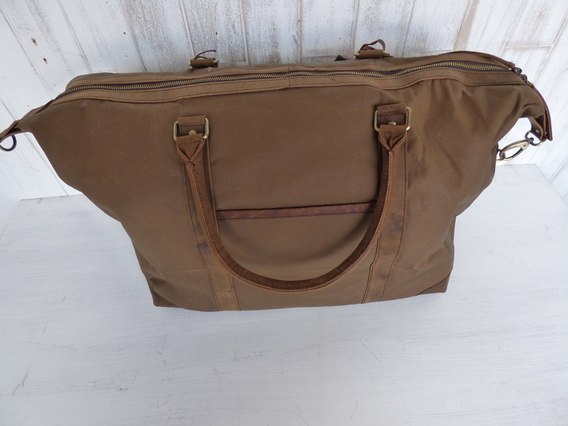 View our  SECONDS Canvas and Leather Holdall from the  Leather Bags collection
