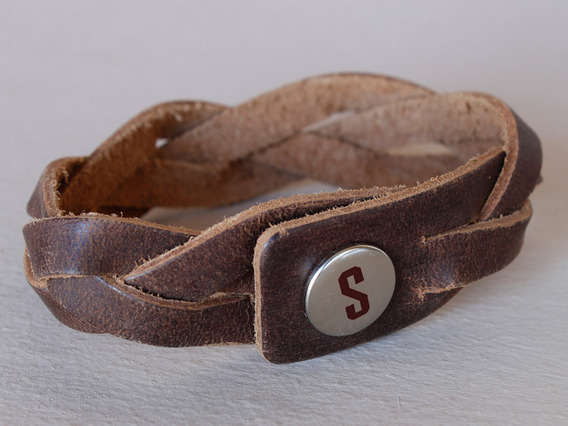 View our  Small Braided Leather Bracelet from the  Accessories collection