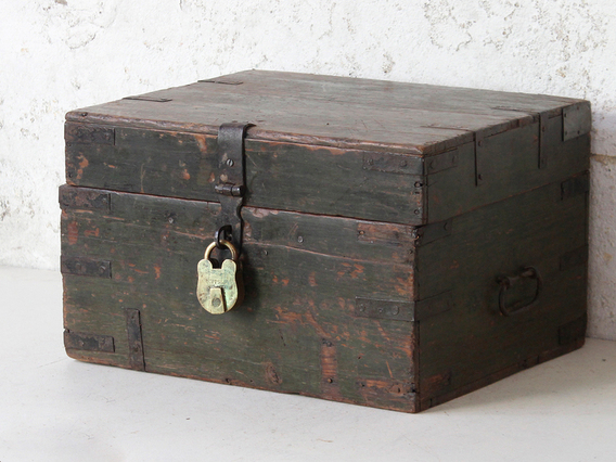 View our  Small Wooden Box from the  Old Wooden Chests, Trunks & Boxes collection