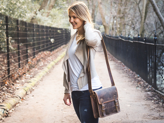 View our Women Small Leather Satchel 13 Inch from the Women Leather Satchel Bags collection