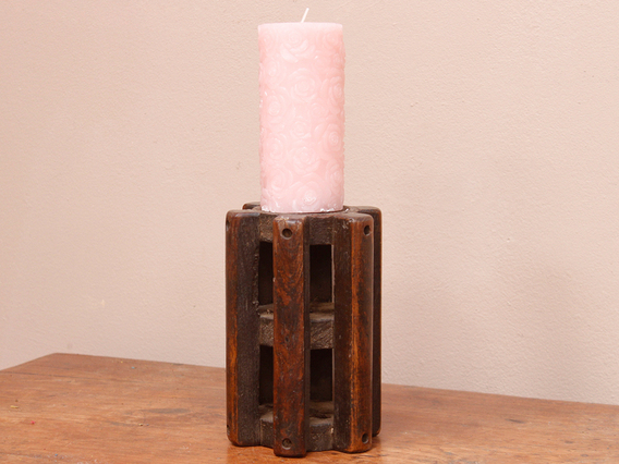 View our  Small Spindle Candlestick from the  Vintage Wooden Candlesticks collection