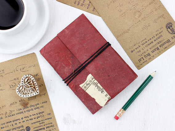 View our  Small Vintage Leather Notebook from the   collection