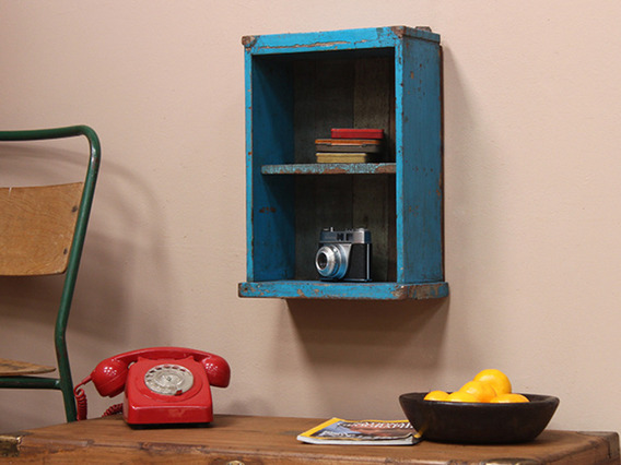 View our  Small Vintage Wall Shelving Unit from the   collection