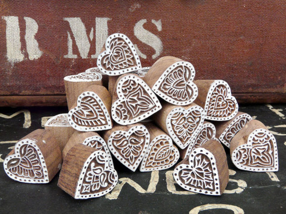 View our  Small Wooden Love Heart Block from the   collection