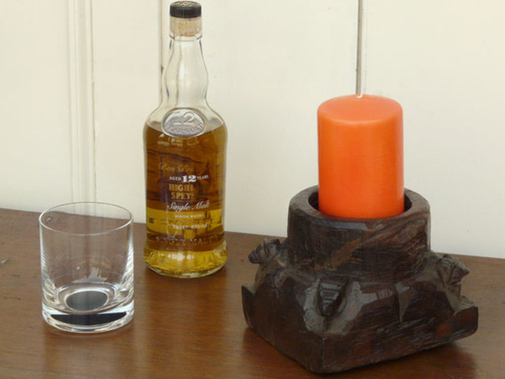 View our  Spice Pot Candle Holder from the  Vintage Wooden Candlesticks collection