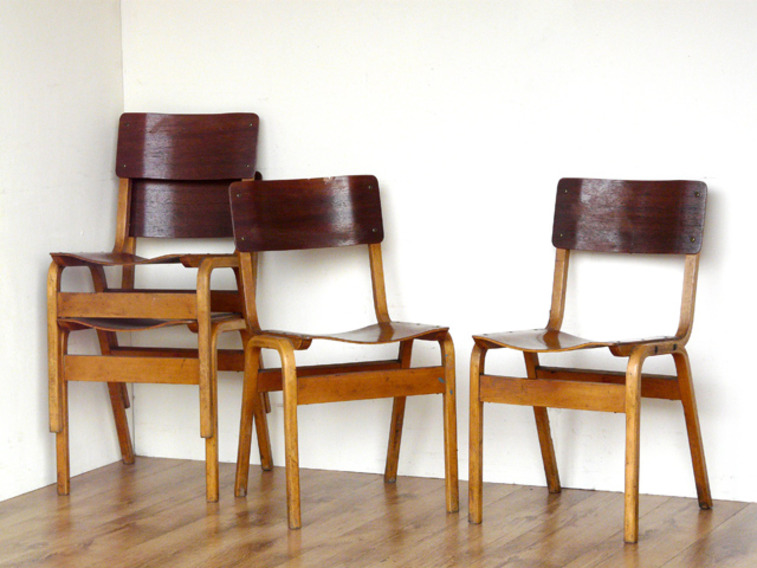Vintage School Chairs By Tecta