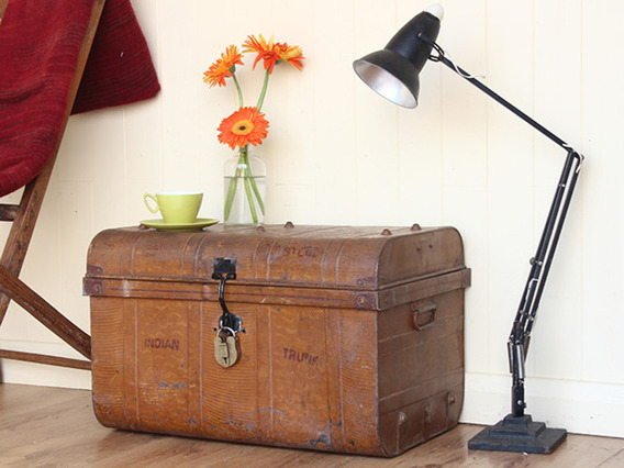 View our  Tall Vintage Metal Trunk (C) from the   collection