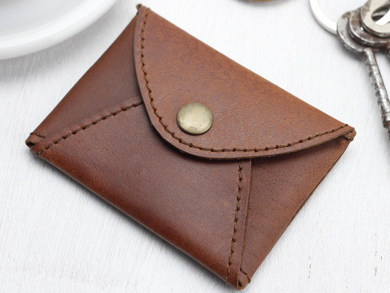 View our  Tan Leather Card Holder from the   collection