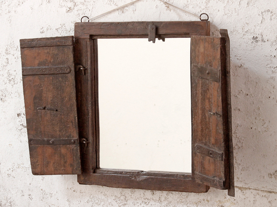 Framed Shuttered Mirror