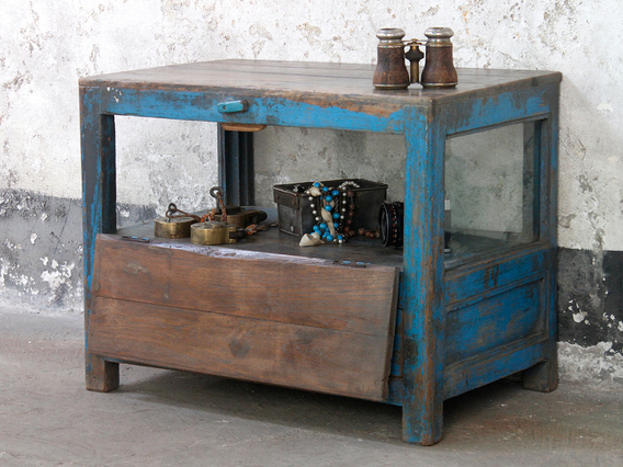 View our  Vintage Glass Cabinet  from the  Vintage Tables & Desks collection