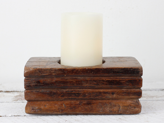 View our  Traditional Candle Holder from the  Vintage Wooden Pots collection