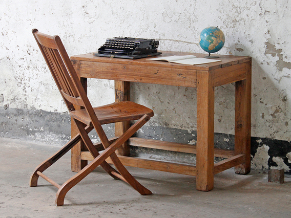 View our  Tropical Hardwood Vintage Table from the  Vintage Tables & Desks collection