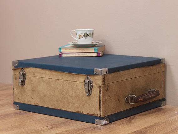 View our  Two-tone Vintage Display Suitcase from the  Vintage Suitcases collection