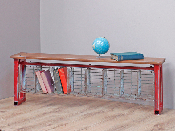 View our  Upcycled Bench With Cage from the   collection