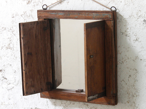 Upcycled Shuttered Window Mirror