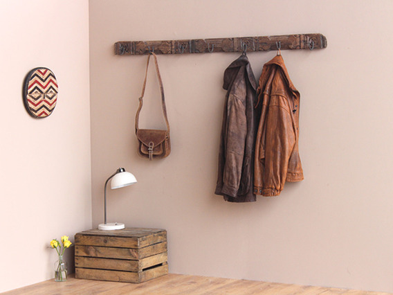 View our  Upcycled Vintage Coat and Hat Hook Rack from the   collection