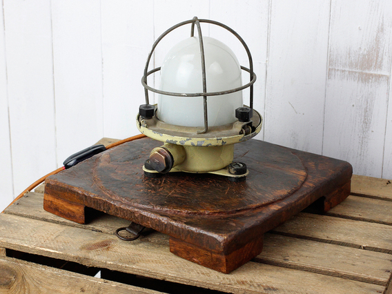 View our  Upcycled Vintage Ship Bulkhead Light from the  SALE collection
