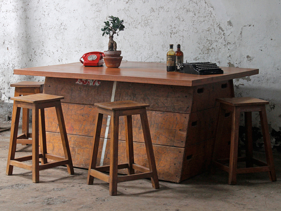 View our  Upcycled Vintage Vaulting Horse Table from the  Upcycled collection