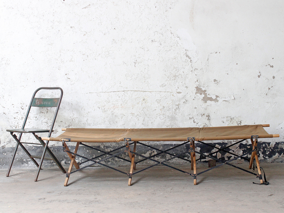 View our  Vintage Army Folding Camp Bed from the   collection
