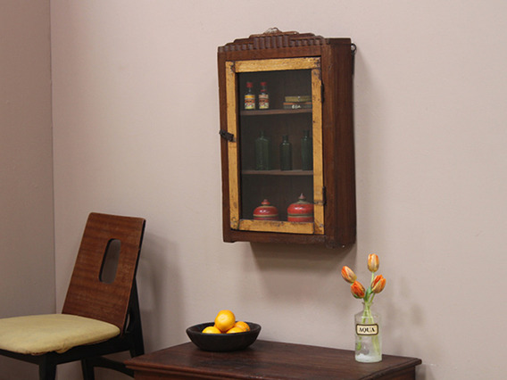 Vintage Art Deco Teak Cabinet