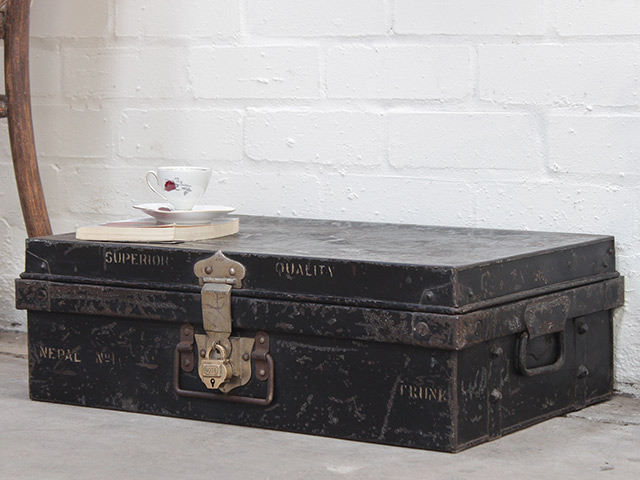 View our  Vintage Black Metal Travel Case from the   collection