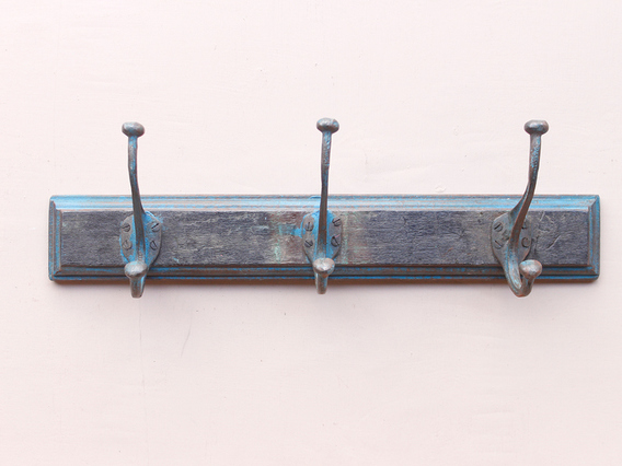 View our  Vintage Blue Coat Hook With 3 Hooks from the   collection