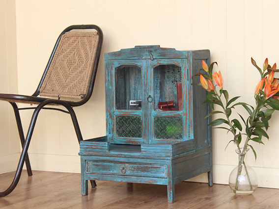 View our  Vintage Blue Display Cabinet (C) from the  Vintage Cabinets & Cupboards collection