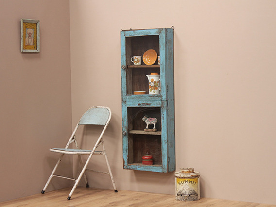 View our  Vintage Blue Long Wall Cabinet from the  Vintage Cabinets & Cupboards collection
