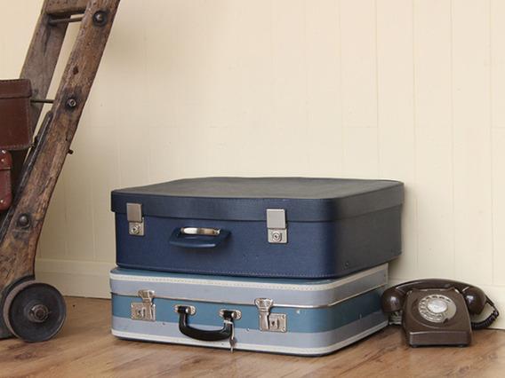 Vintage Blue Suitcase (C)