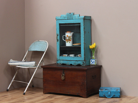 View our  Vintage Blue Wooden Cabinet from the  Vintage Cabinets & Cupboards collection