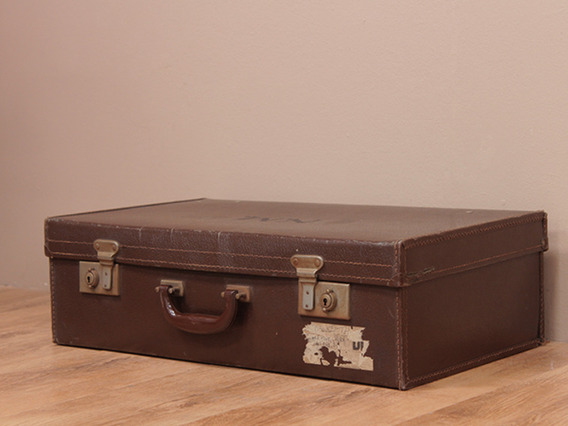 View our  Vintage Brown Suitcase from the   collection
