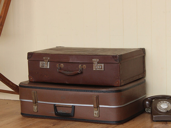 View our  Vintage Brown Suitcase (C) from the   collection