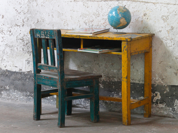 View our  Vintage School Desk and Chair from the   collection