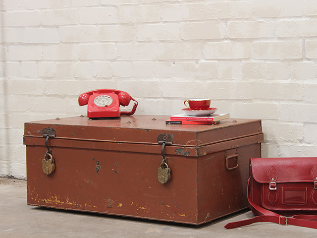 Vintage Colourful Metal Trunk