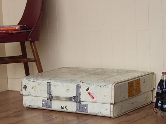 View our  Vintage Cream Suitcase from the  Vintage Suitcases collection