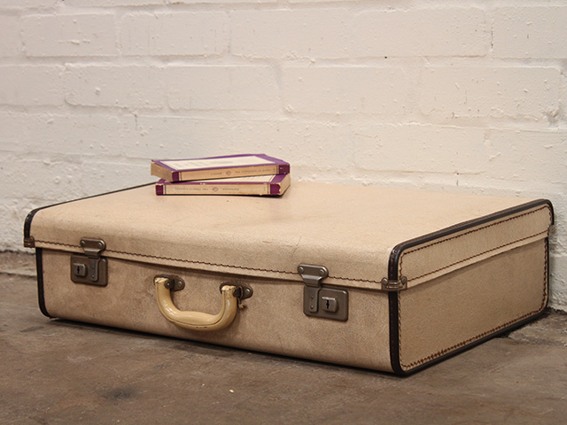 Vintage Cream Suitcase - Sold - Scaramanga