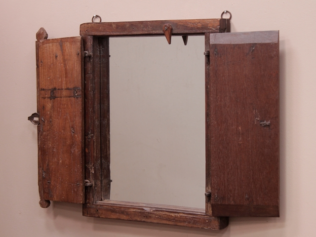 View our  Vintage Distressed Shuttered Mirror from the  Wooden Mirrors collection