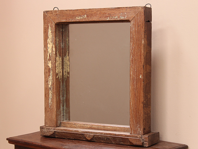 Vintage Distressed Standing Window Frame Mirror