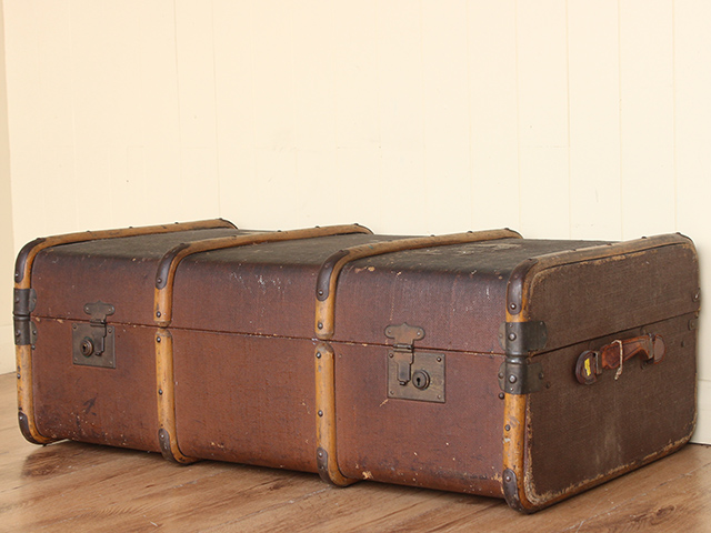 View our Women Vintage Distressed Steamer Trunk from the Women Sold collection