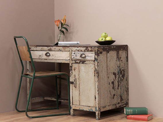 View our  Vintage Distressed White Writing Desk from the   collection