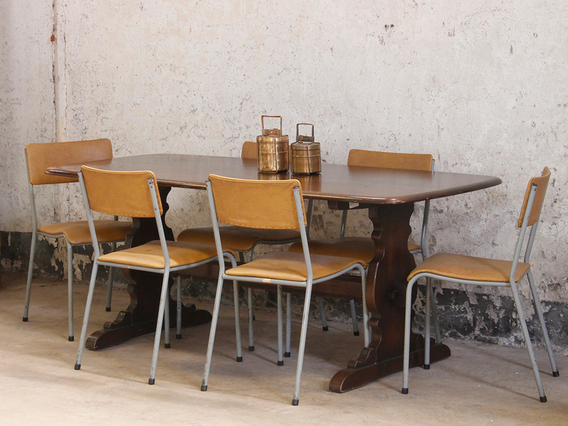View our  Vintage Elm Dining Table by Ercol from the   collection