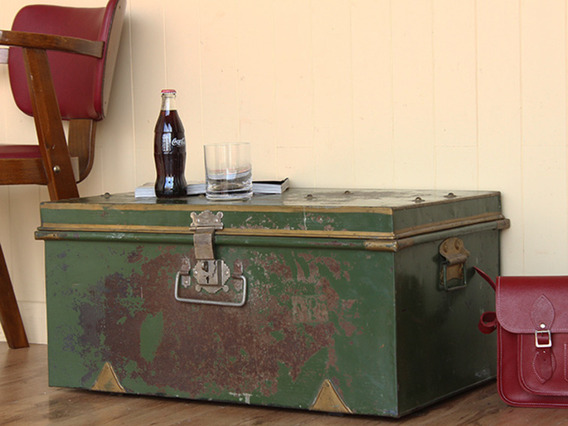 View our  Vintage Green Metal Travel Case from the   collection