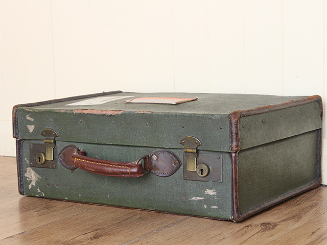 View our  Vintage Green Suitcase from the   collection