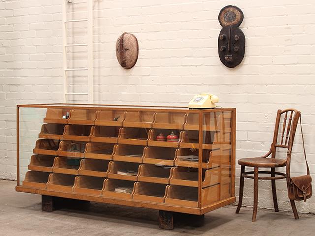 Vintage Haberdashery Shop Display Cabinet by Heggie and Aitchison - Vintage Haberdashery Shop Display Cabinet By Heggie And Aitchison