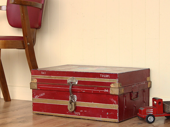 View our  Vintage Hand Painted Metal Travel Case from the   collection
