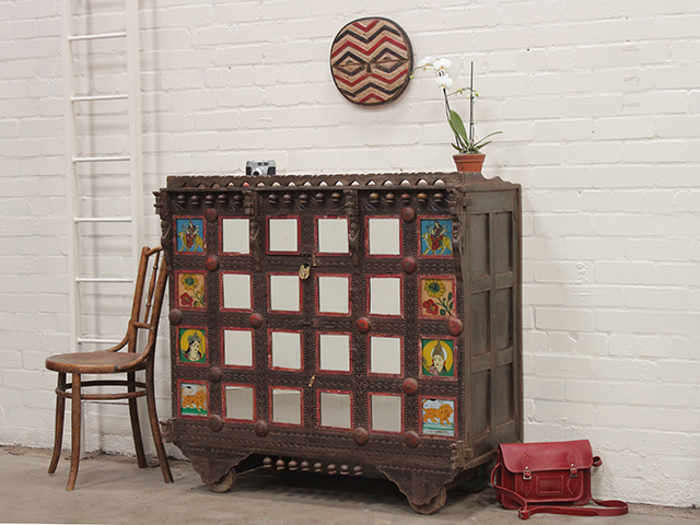 View our  Vintage Indian Damachya Cabinet from the   collection