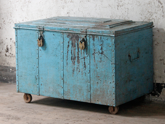 View our  Vintage Industrial Chest With Wheels  from the  SALE collection