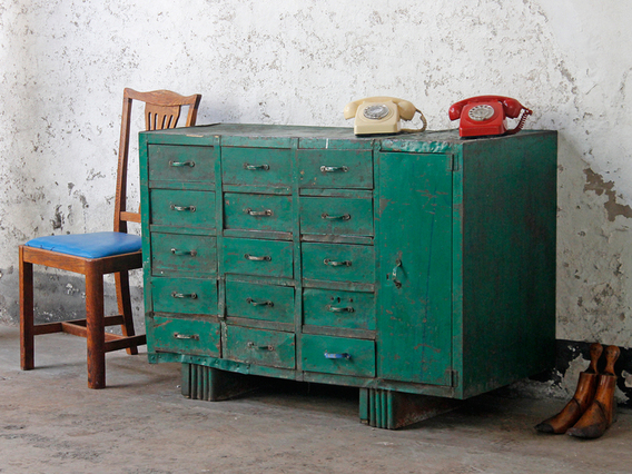 View our  Vintage Industrial Workshop Cabinet from the  Vintage Tables & Desks collection