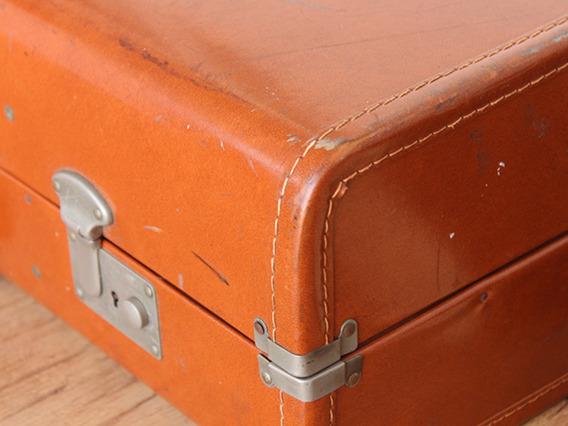 Vintage Leather Art Deco Suitcase TLNM45150