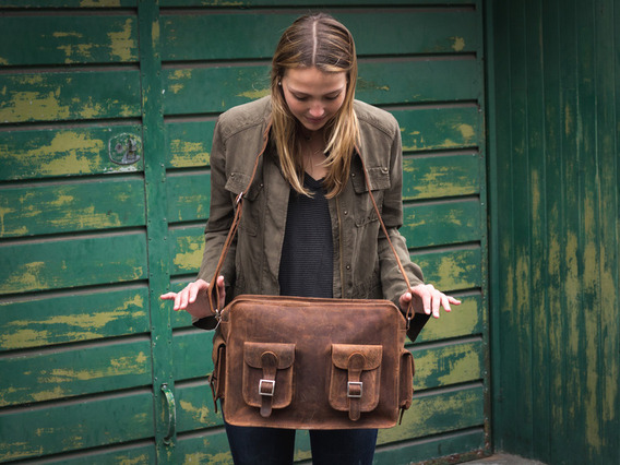 View our  Vintage Leather Flight Bag 2 from the  Leather Satchels & Bags collection